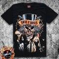 Новые Guns N 'Roses футболки Черные Мужчины Рок футболка Хлопок с коротким рукавом