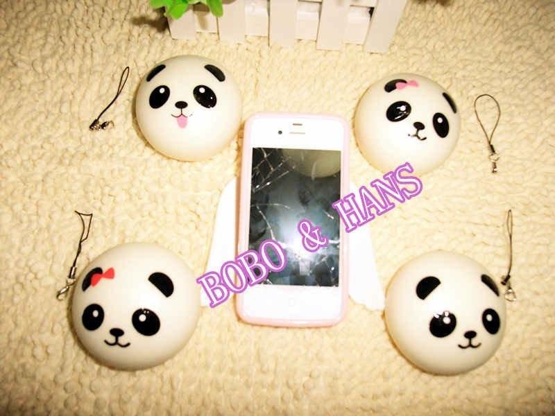 imágenes para Nueva lindo 7 cm bebé panda encanto blando / correa del teléfono móvil / venta al por mayor