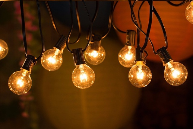 Elegant 25Ft G40 Globe String Lights With Clear Bulbs, UL Listed Backyard Patio  Lights, Hanging