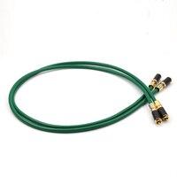 Kostenloser versand paar 8N reinem kupfer Silber überzog RCA Hallo Fi interconnect mit Kabel Kohlenstoff Gold RCA Stecker