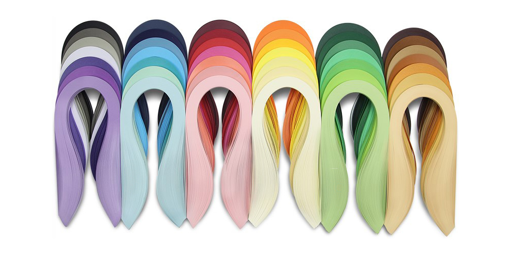 5040 Strips Quilling Paper Set 54cm 21inch Length 42 Color Complete Quilling Strips Supply 3mm Width