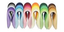 Juego de tiras de papel para filigrana, tiras de papel para filigrana de 54cm (21 pulgadas) de largo, 42 colores, suministro completo de tiras de Quilling de 3mm de ancho