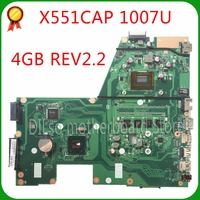 KEFU X551CA For ASUS X551CA X551CAP Laptop motherboard X551CA mainboard REV2.2 1007u Test new motherboard work 100%