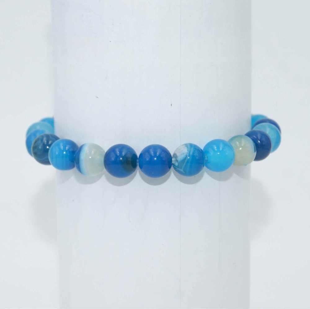 Transfer Luck 6 8 10 มม.ลูกปัดหินธรรมชาติอเมทิสต์ Agates Tiger Eye Lapis Lazuli สร้อยข้อมือผู้หญิงผู้ชายโยคะสร้อยข้อมือ