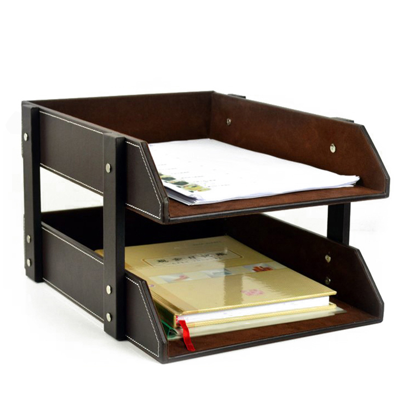 Huamei Shi Grade European Leather File Storage Rack Creative Office  Supplies A4 Paper Storage Reel In Storage Boxes U0026 Bins From Home U0026 Garden  On ...