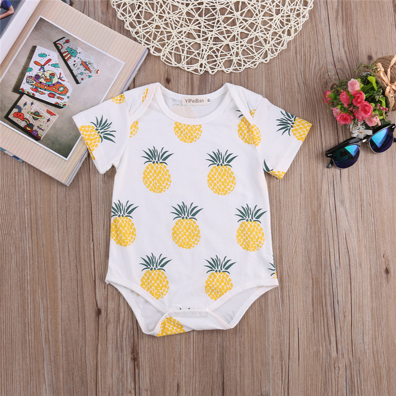 Newborn Infant Kids Baby Boy Girl Cotton Romper Jumpsuit Bodysuit Outfit Clo 6G8