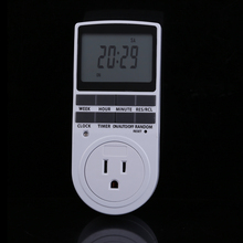 New Top Quality UK/US/EU/ Plug Smart Timer Switch of 12/24 Hour LCD Digital Electronic Plug-in Timer Switch Socket