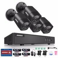 ANNKE HD TVI 720P 8CH 4CH CCTV Security System 1080P HDMI DVR 4PCS 720P 1280TVL IR