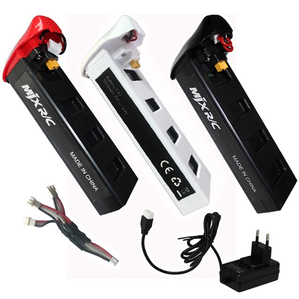 D'origine MJX Bugs 2 B2W B2C RC Hélicoptère Batterie 7.4 v 1800 mah 25C Haute Capacité Li-po Batterie RC Drone Pièces De Rechange Batterie