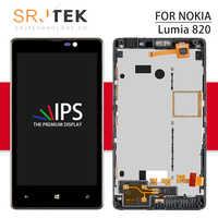 """Srjtek 4,3 """"ЖК-дисплей для Nokia Lumia 820 сенсорный экран с рамкой для Nokia 820 N820 дигитайзер стекло сенсор сборка 800*480"""
