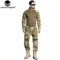 EMERSONGEAR Gen2 BDU Combat Uniform тактические рубашка брюки с Локоть Наколенники военные камуфляж Охота Одежда ATFG EM6922