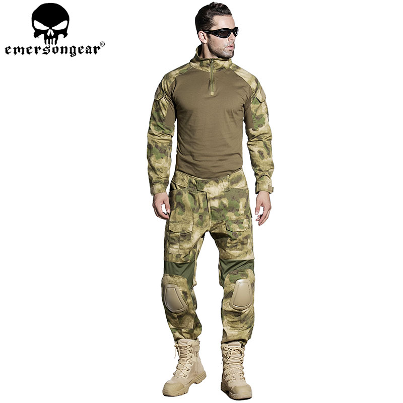 EMERSONGEAR Gen2 BDU Combat Uniform Tactical Shirt Pants with Elbow Knee Pads Military Camouflage Hunting Clothes ATFG EM6922 desert digital camo hunting clothes with gen2 knee pads combat uniform tactical gear shirt and pants army bdu set page 9