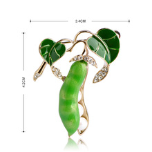 Green Pea Brooch