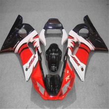 Inj mold Fairing kit for YAMAHA YZFR6 98 99 00 01 02 YZF R6 YZF600 1998 2000 2002 Red black Motorcycle Fairings set(China)