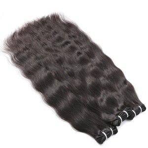 Image 2 - Rosabeauty Ruwe Indische Maagd Haar Weave Bundels Natuurlijke Rechte 100% Human Hair Extension Natuurlijke Kleur 10 40 28 30 inch