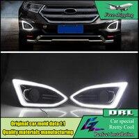 Car Styling LED DRL For Ford Edge 2015 2016 LED DRL Daytime Running Light 12V Waterproof