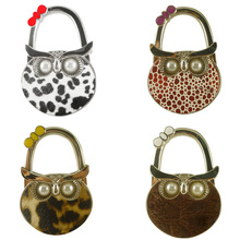 Useful Foldable Owl Hanger Bag Hook Handbag Holder Metal Table Hook 4 Color Convenient Compact  Handbag Hanger 47