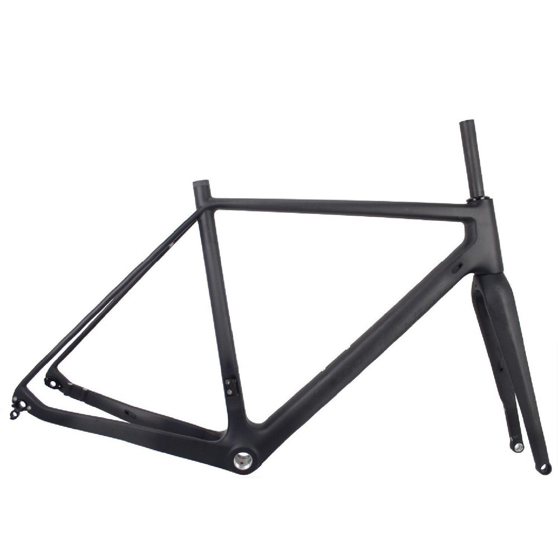 Seraph vélos à travers l'essieu 142mm carbone 42c pneu à montage plat gravier frein à disque carbone gravier cadre de vélo GR029