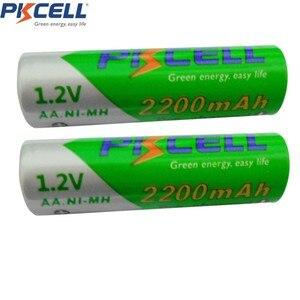 Image 2 - PKCELL 2Pack 1.2V Ni MH 2200mAh AA 충전식 배터리 배터리 + 2 팩 NiMH 1.2V 1000mAh AAA 충전식 배터리 Bateries
