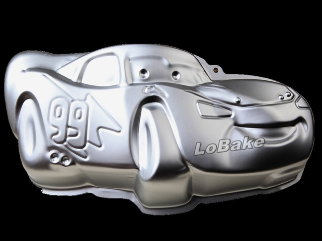 New 13 Inches Cartoon Luxury Car Shape Aluminium Metal Cake Mold