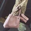 Ulrica Women Single Shoulder Bag+Clutch Bag Womens Leather Litchi Stria Handbag 2016 Fashion Women Messenger Bags bolsa feminina