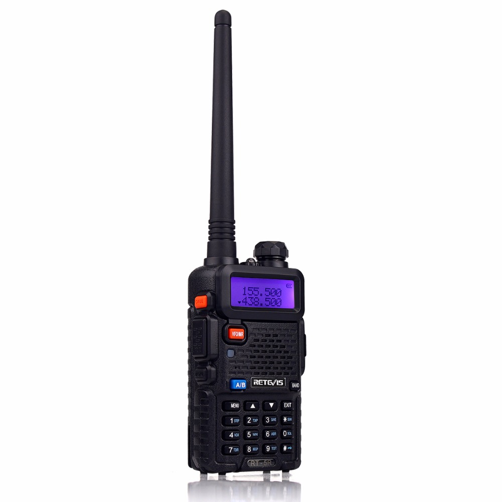 Image 2 - 2pcs Retevis RT 5R Walkie Talkie Radio 128CH VHF UHF Dual Band Ham Radio Amador Hf Transceiver 2 Way cb Radio Communicator RT5R-in Walkie Talkie from Cellphones & Telecommunications