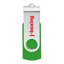J-boxing 64GB 32GB 16GB 8GB 4GB USB Flash Drive Metal Rotating Flash Memory Stick Thumb Drive Pen Drive for PC Mac Tablet Green sandisk cz59 usb 2 0 flash drive green black 8gb
