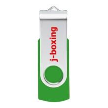 J-boxing 64GB 32GB 16GB 8GB 4GB USB Flash Drive Metal Rotating Flash Memory Stick Thumb Drive Pen Drive for PC Mac Tablet Green цена и фото