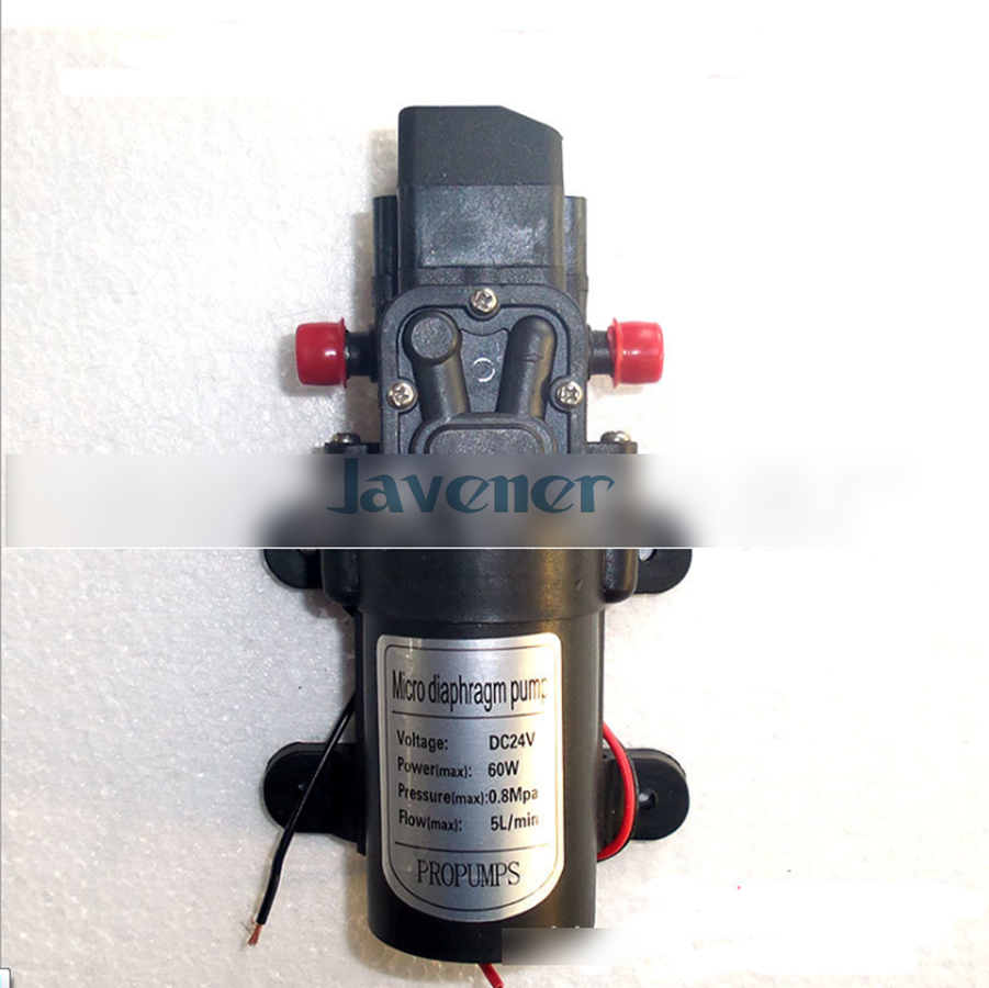 DC 24 V 60 W Micro diaphragme pompe à eau auto-amorçante Booster pompe commutateur automatique 300L/H Y5