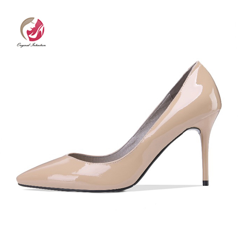 Original Intention Fashion Women Pumps Concise Pointed Toe Thin High Heels Pumps Black Nude Shoes Woman US Size 3-10.5Original Intention Fashion Women Pumps Concise Pointed Toe Thin High Heels Pumps Black Nude Shoes Woman US Size 3-10.5
