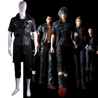 Final Fantasy XV Noctis Lucis Caelum FF15 Anime Cosplay Costume Leather Men T Shirts Del Cotton Short Sleeve Halloween Party