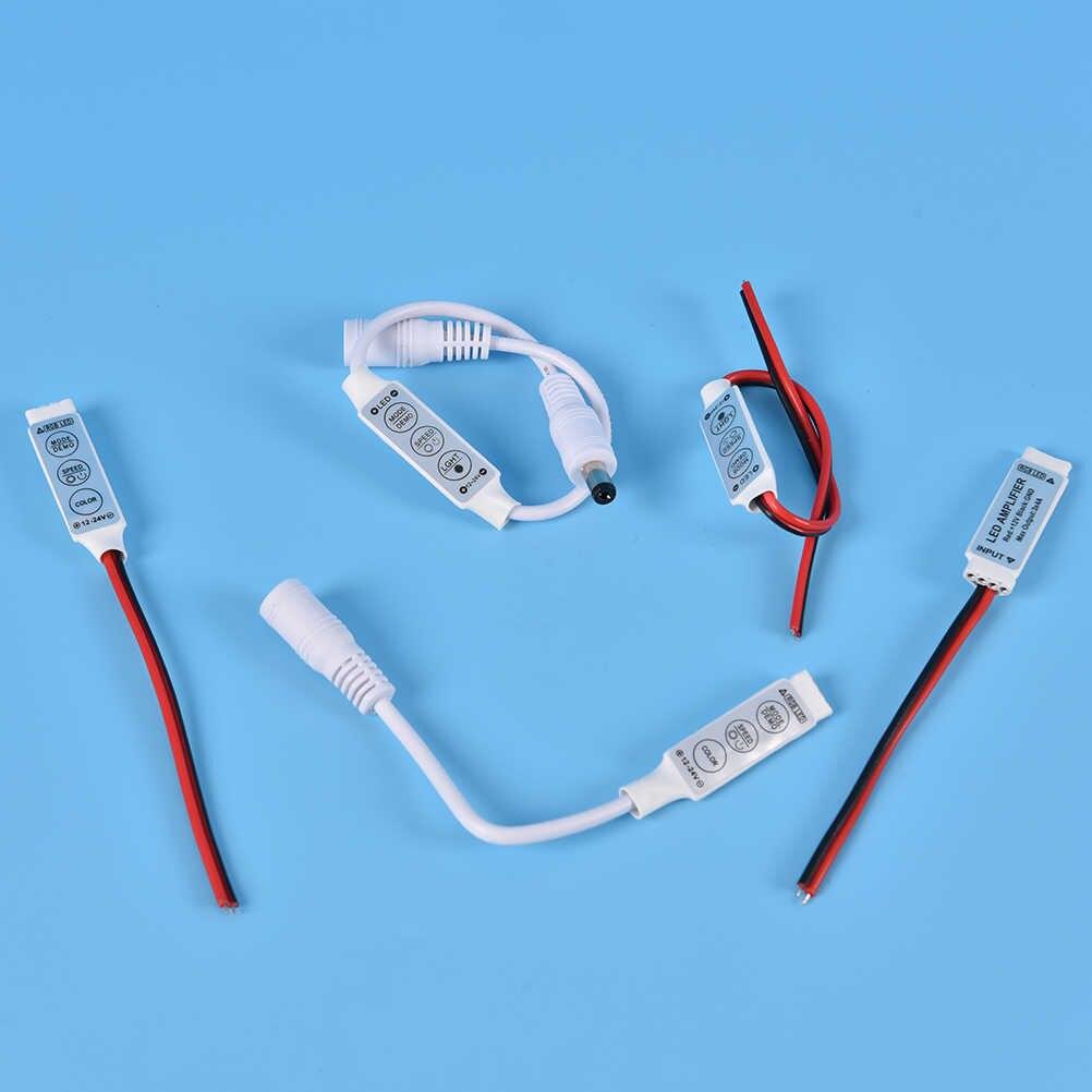 1PCS 12 V-24 V Mini 3 Chaves Única Cor RGB LED Controlador Dimmer Brilho Para Led 3528 5050 a Luz de Tira
