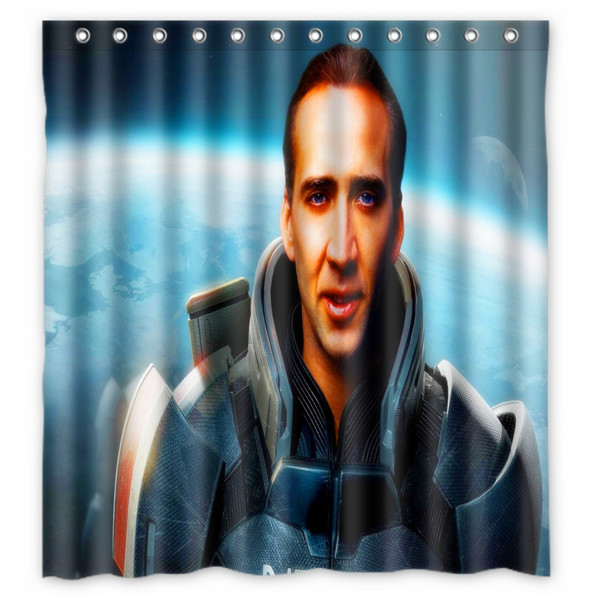 66x72 Nicolas Cage Shower Curtain 72x72 Inch One Piece Dragon Ball Fairy Tail In Curtains From