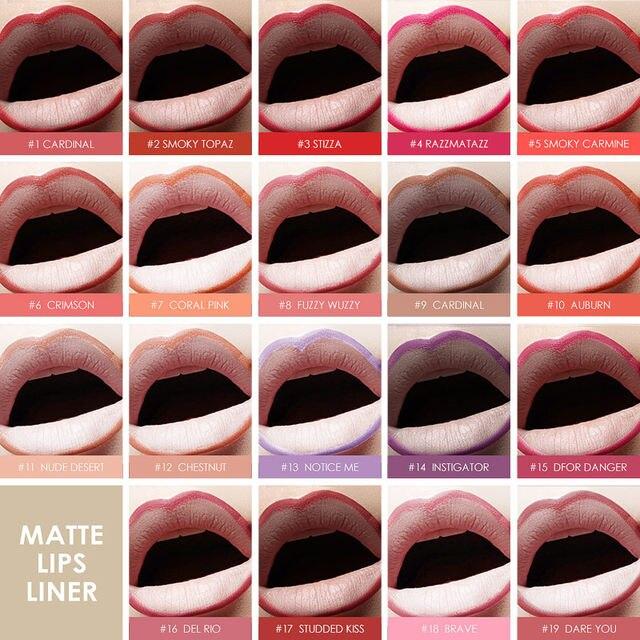 Online Shop Focallure Matte Lip Liner Pencil Functional Eyebrow Eye