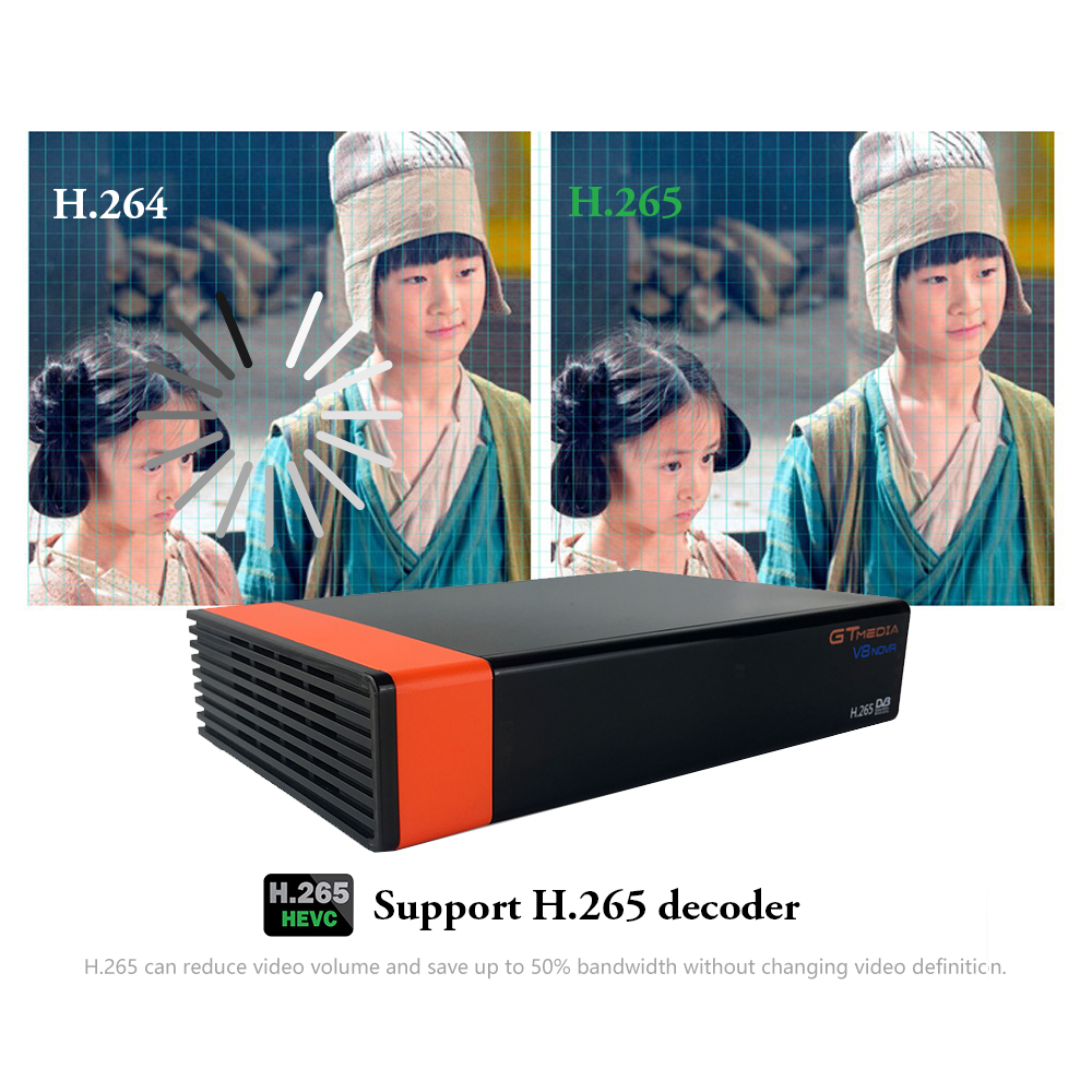 Gratuit 2 ans Europe 7 lignes serveur GT MEDIA DVB S2 V8 Nova HD 1080p H.265 récepteur Satellite Support YouTube CCCAM V8 récepteur - 6