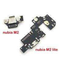 USB Ladung Board Jack Dock Buchse Stecker Lade Port-anschluss Flex Kabel Mikrofon Für ZTE Nubia M2 NX551J/M2 lite NX57j