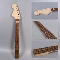 Diy Left hand Big F Electric Guitar Neck 22fret 25.5inch St Style Canada Maple+Rose wood Fretboard Unfinished