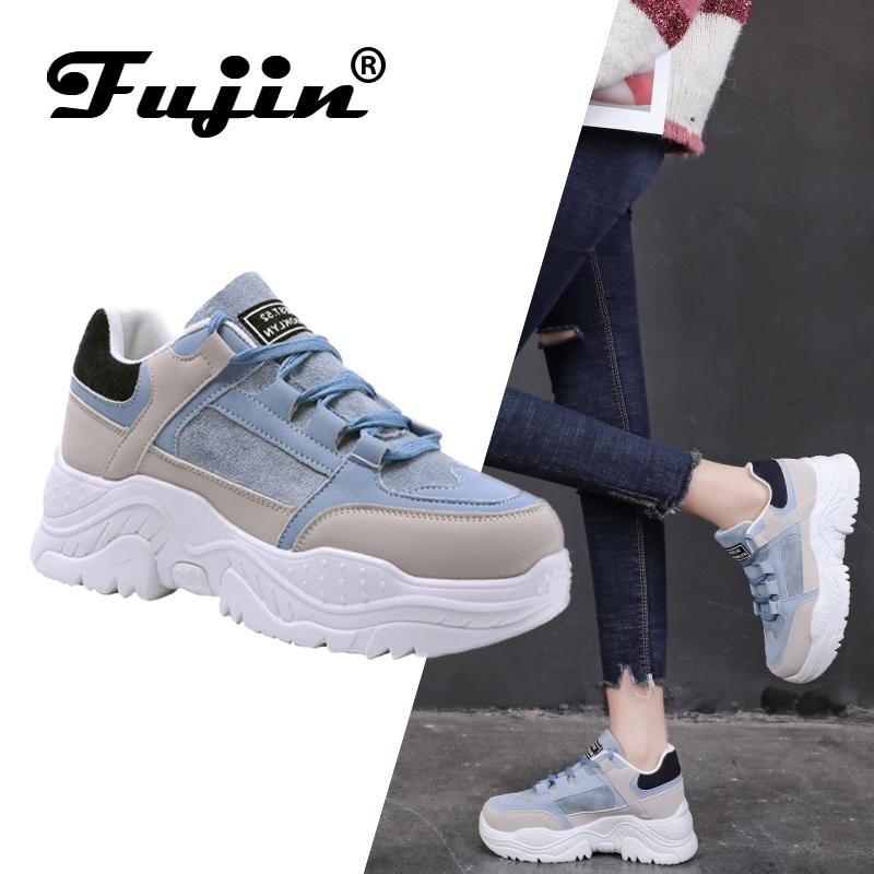 FUJIN Female Shoes Comrfortable-Shoes Winter Sneakers Women Lace-Up Plush-Fur Keep-Warm