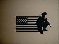 Soledier Militar Do Exército E Da Bandeira Americana Da Parede do Vinil Adesivo removível arma do exército old glory home decalques da parede para a arte decoração Y-648