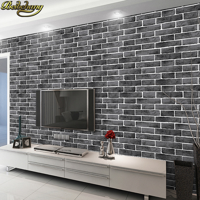 Beibehang Blue Brick Wallpaper Roll Papel De Parede 3D Old Stone Wall Paper For Restaurant TV Background Wall Papers Home Decor