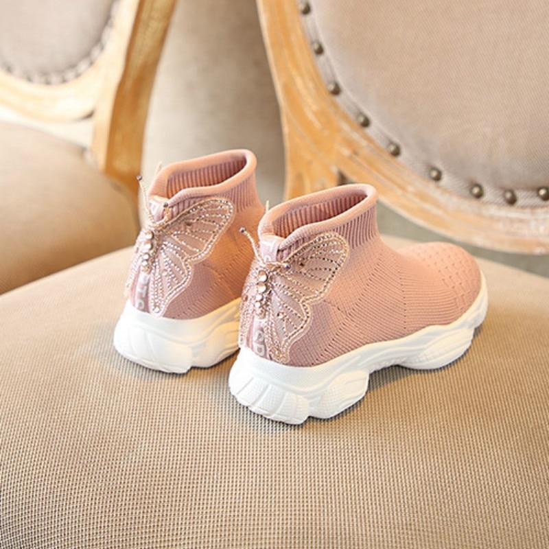 sapatos meninas sapatos da princesa doce meias 01