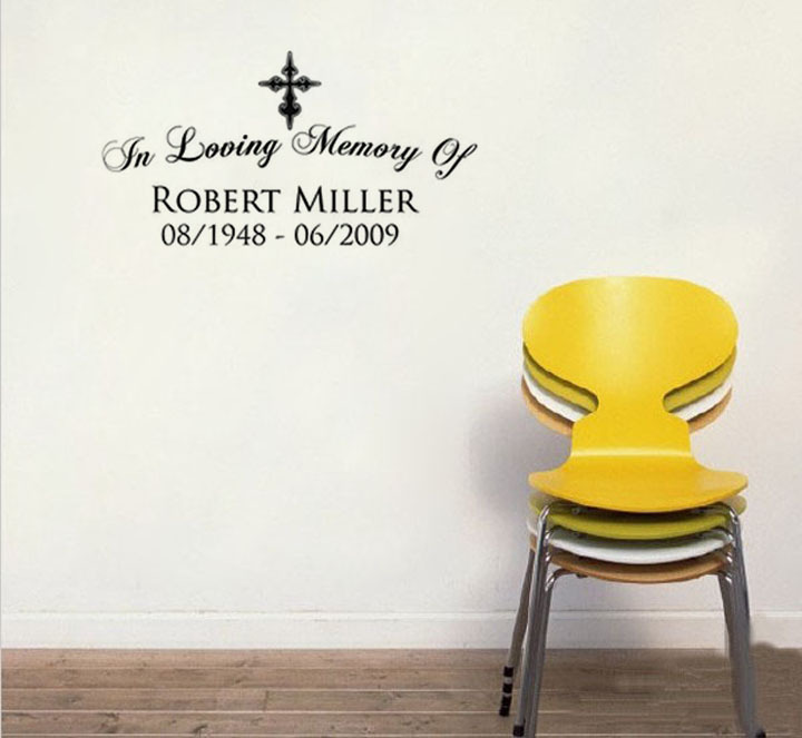 Quotes In Loving Memory Of Plane Wall Stickers Text Robert Miller  Decorative Wallstickers For Living Room In Wall Stickers From Home U0026 Garden  On ...