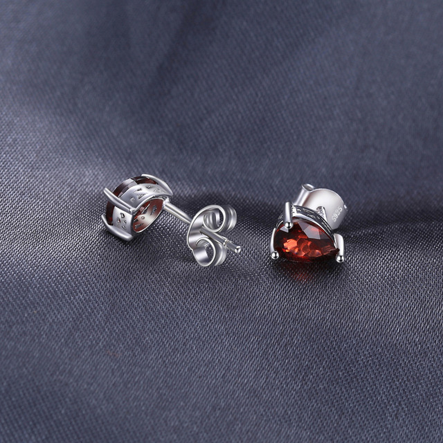 JewelryPalace Pear 1.8ct Natural Red Garnet Birthstone Stud Earrings 925 Sterling Silver Fine Jewelry For Women Gift Hot Selling