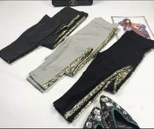 Брюки карандаш женские с блестками модные Хлопковые Штаны в