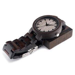 Image 2 - BOBOBIRD C30 Ebenholz Holz Uhren Für Herren Uhren Top marke Luxus Quarz Uhren Mit Geschenk Box