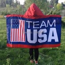 Команда США флаг накидка тело баннер флага 3x5ft 150x90 см полиэстер Олимпийский флаг накидка