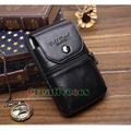 2017 Men Genuine Leather Cowhide Vintage Travel Cell/Mobile Phone Case Cover Belt Hip Bum Pouch Hook Purse Fanny Pack Waist Bag