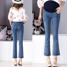 4f214d636e46c (Ship from US) MUQGEW maternity clothes Pregnant Woman Ripped Jeans  Maternity Pants Trousers Nursing Prop Belly Legging vetement grossesse#y2