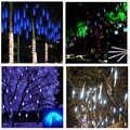 50cm 8 tubos impermeables vacaciones lluvia de meteoritos LED cadena luces para interiores al aire libre jardines Navidad Fiesta decoración árbol