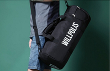 Sale New fashion design Cool black cylinder travel big bag with big capacity messenger bag zipper for man or women e285966rq